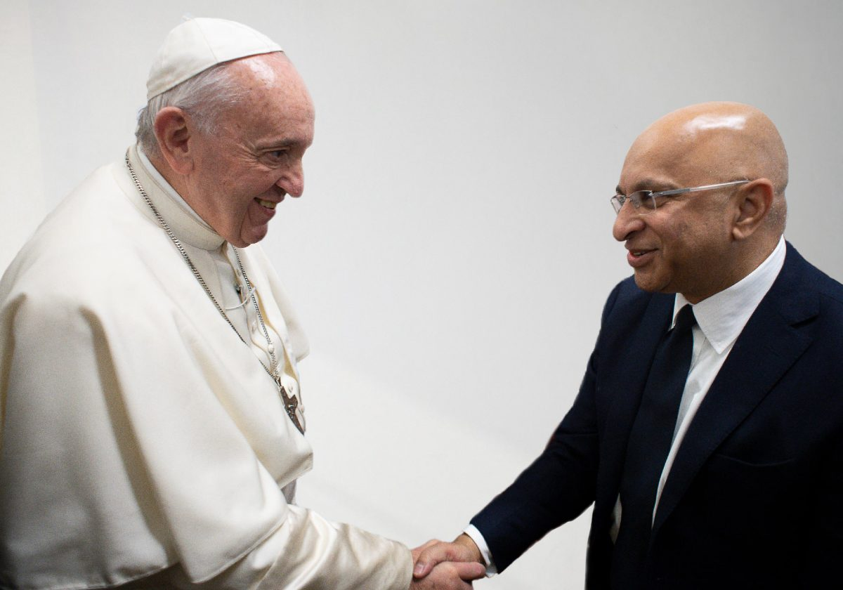 Lord Rumi Verjee and The Pope
