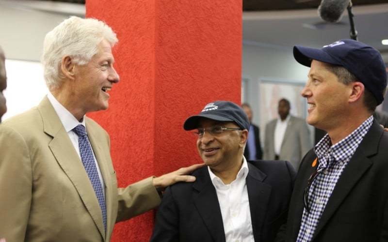 Lord Rumi Verjee and President Clinton