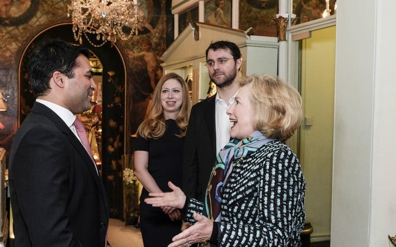 Jay Verjee and Hillary Clinton, The Rumi Foundation