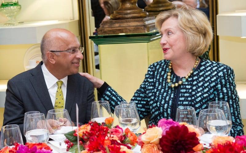 Rumi Verjee & Hilary Clinton