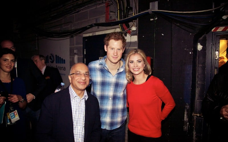 Rumi Verjee & Holly Branson with HRH Prince Harry