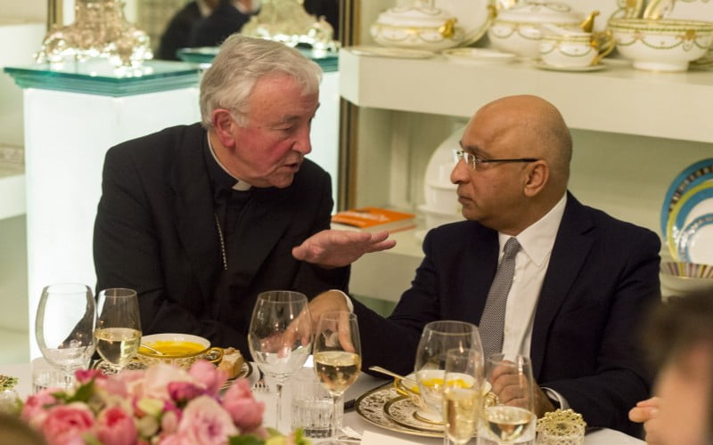 Rumi Verjee with Archbishop of Westminster