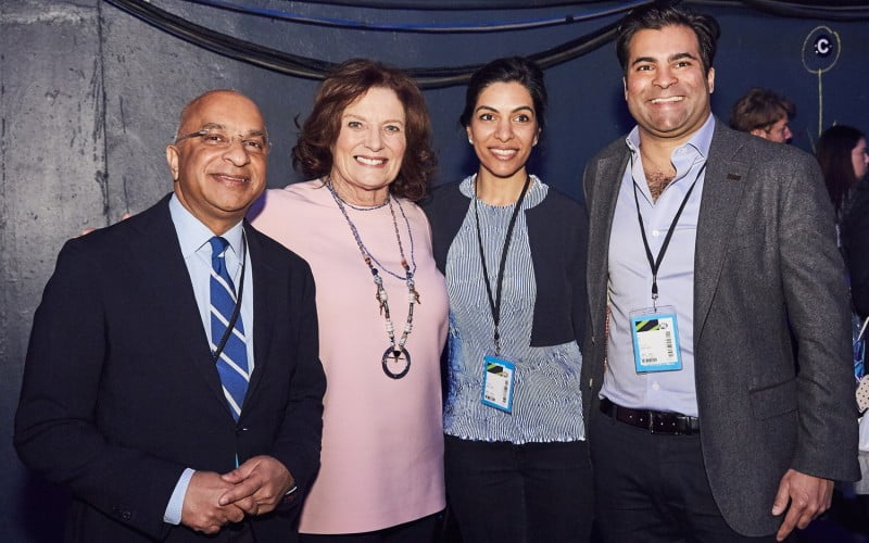WeDay 2017 Rumi Verjee, Jay Verjee and Margaret Trudeau