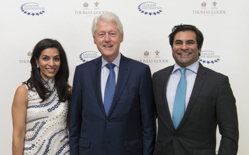 President Clinton and Jay Verjee