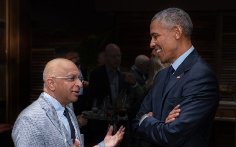 Lord Rumi Verjee and Barack Obama