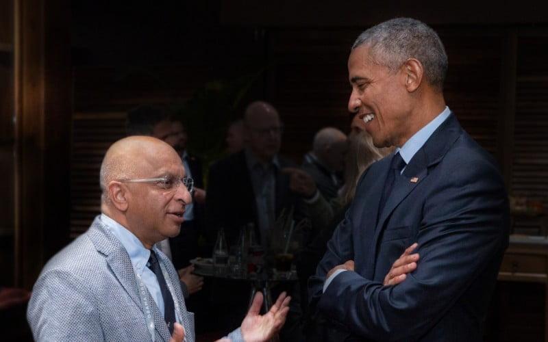 Lord Rumi Verjee and Barack Obama
